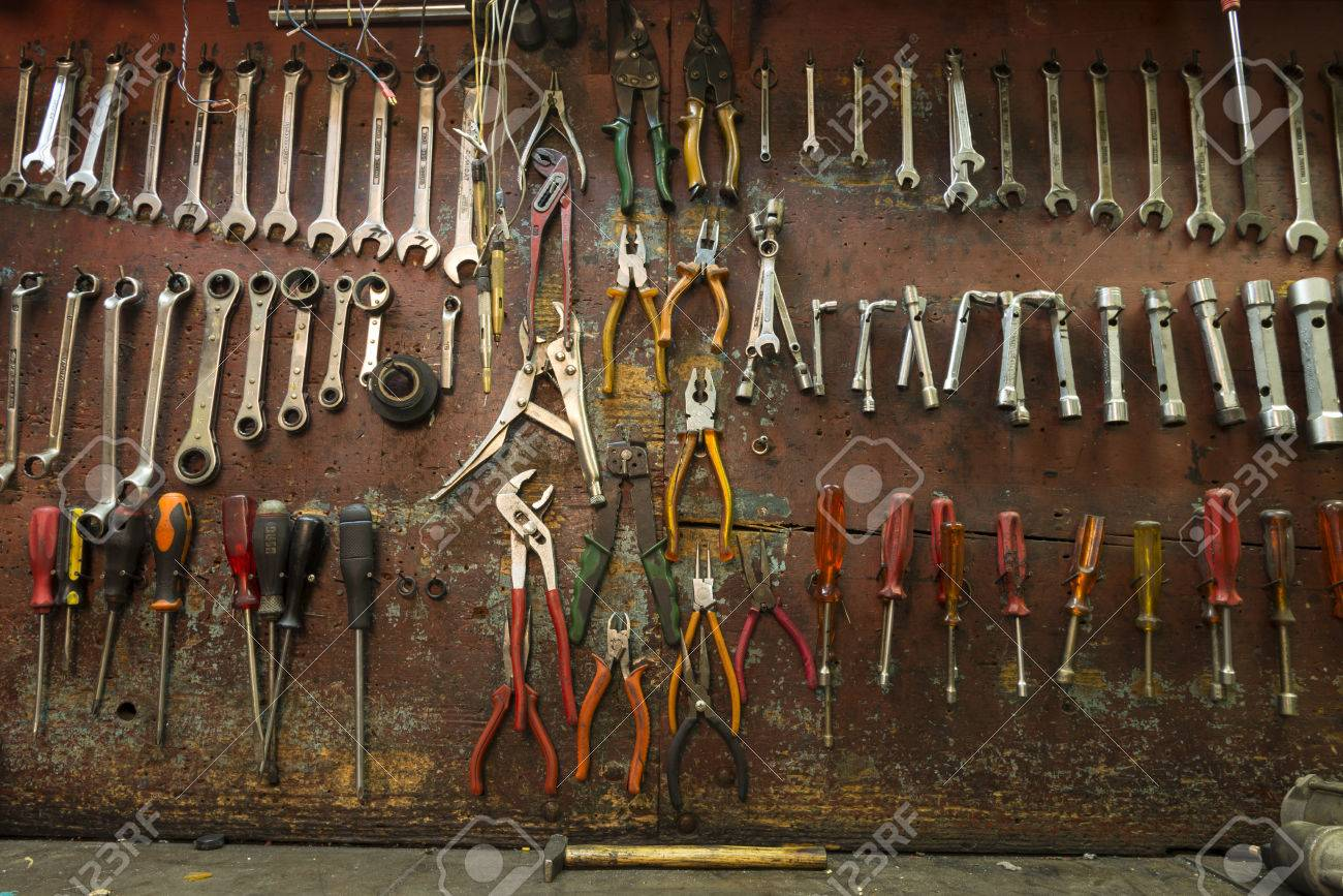 Mechanical Workshop Tools Stock Photo, Picture And Royalty Free ...