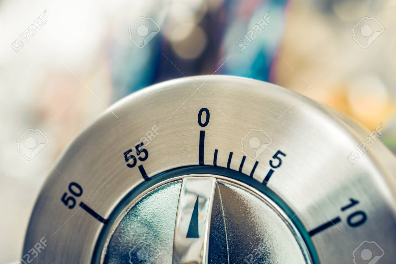 0 Minutes - 1 Hour - Analog Chrome Kitchen Timer