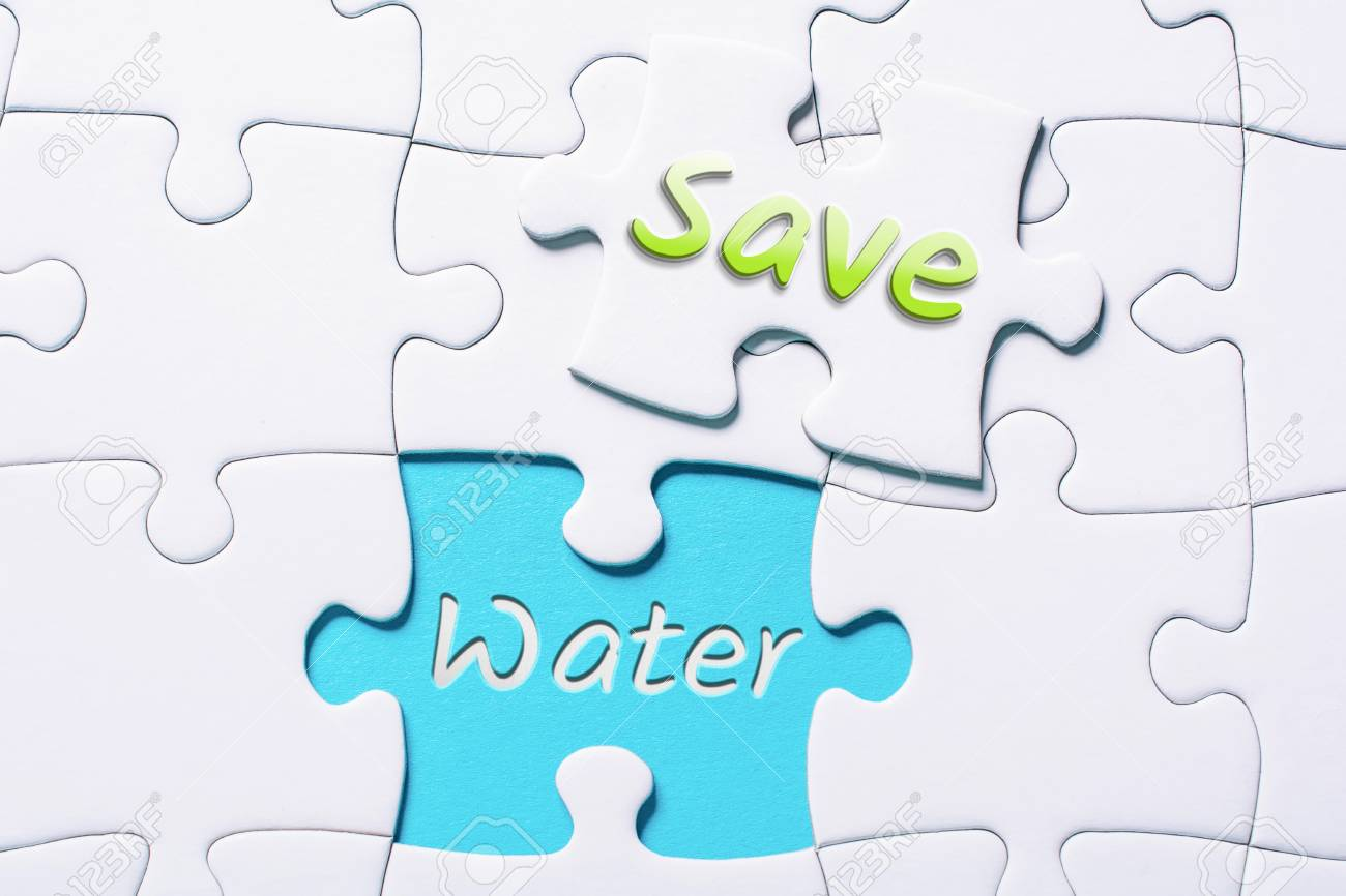 The Words Save And Water In Missing Piece Jigsaw Puzzle