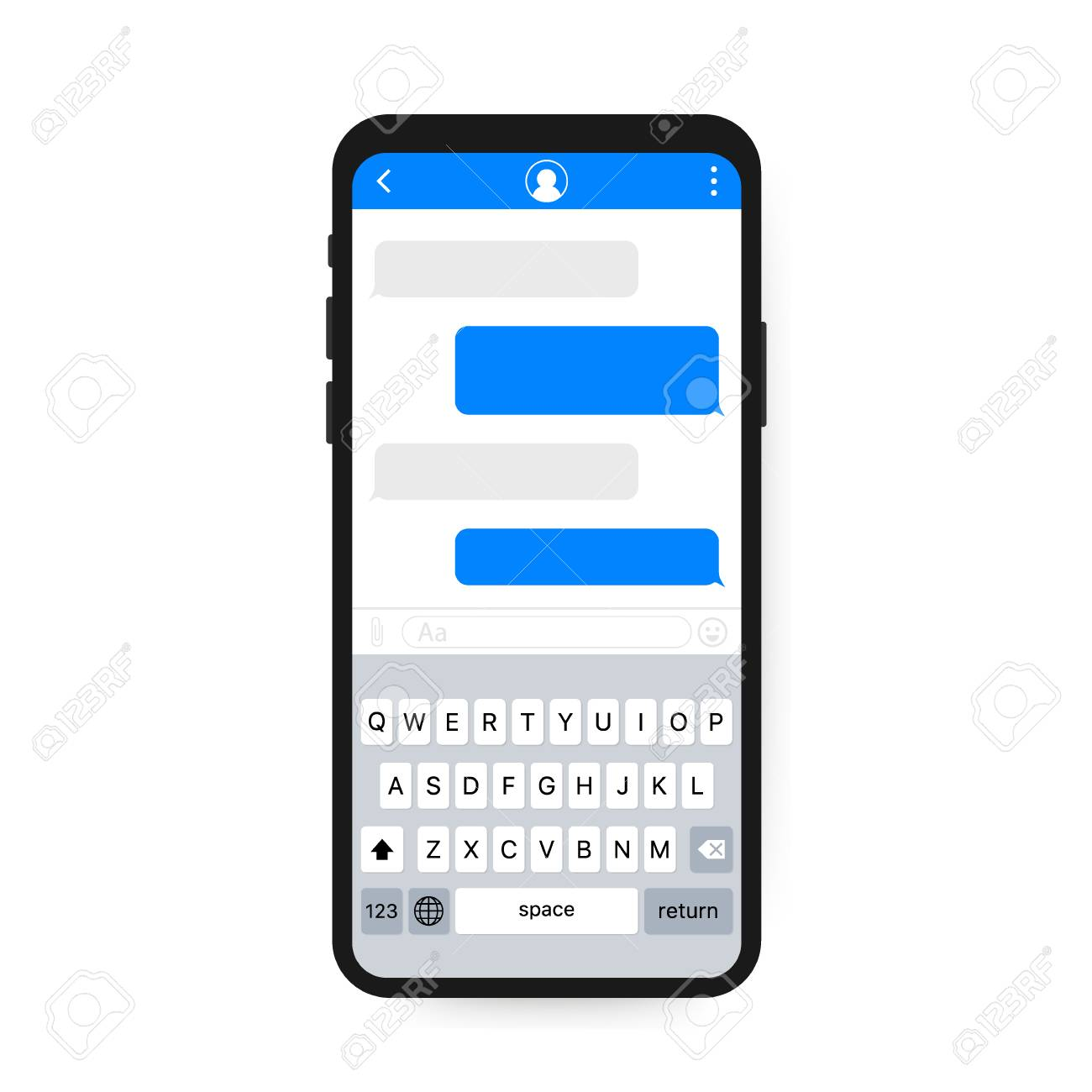 Chat Interface Application with Dialogue window  Clean Mobile