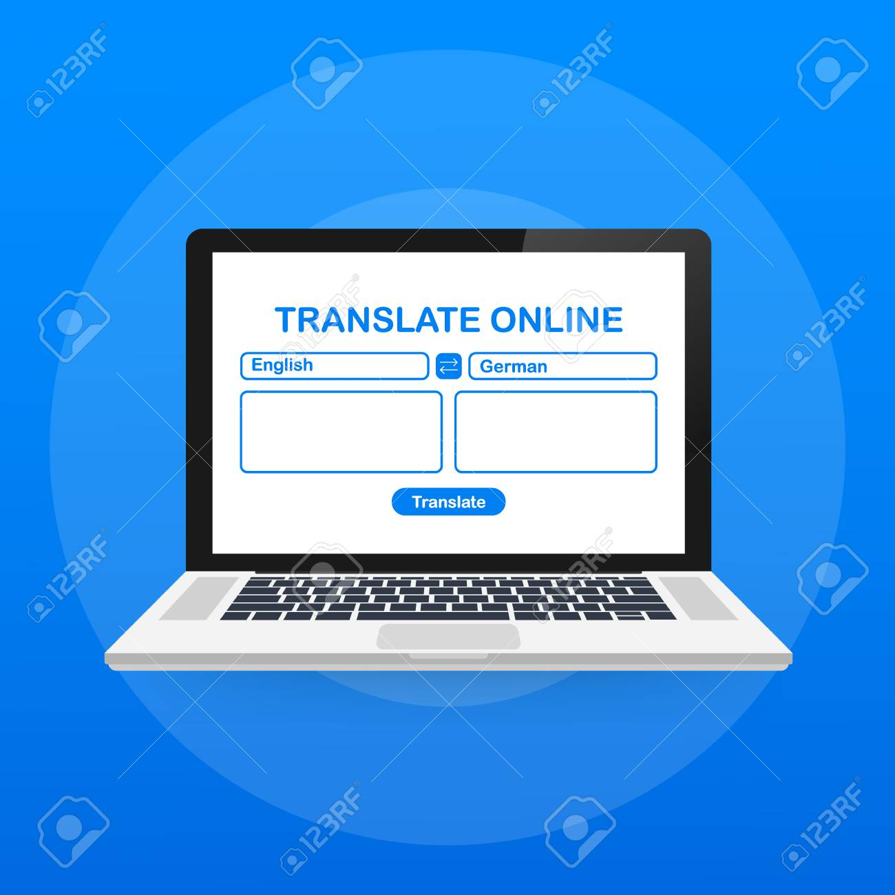 Language translation color icon  Online translator  Spell check