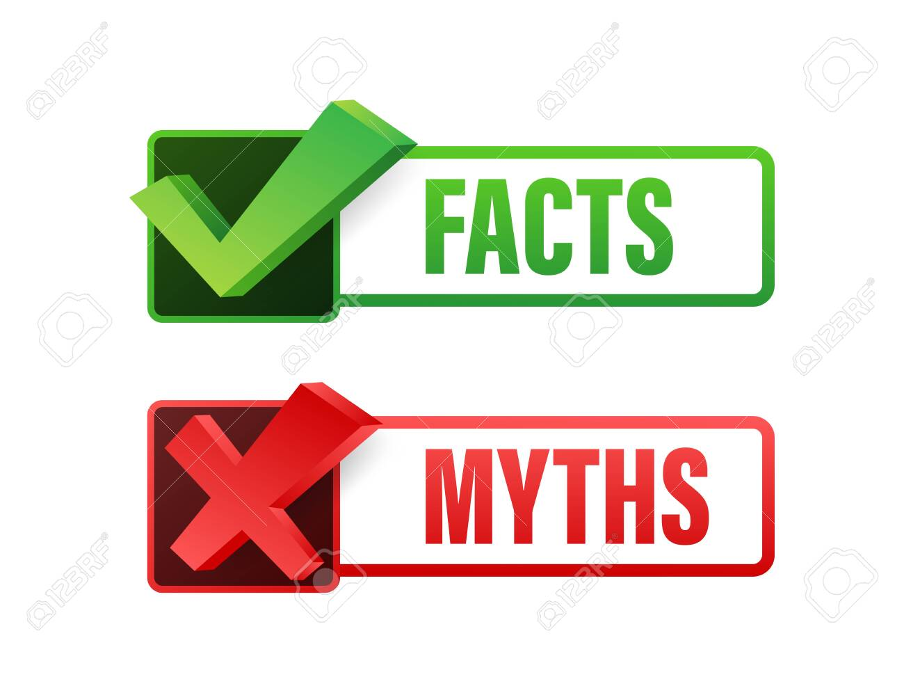 Myths facts. Facts, great design for any purposes. Vector stock illustration - 144552038