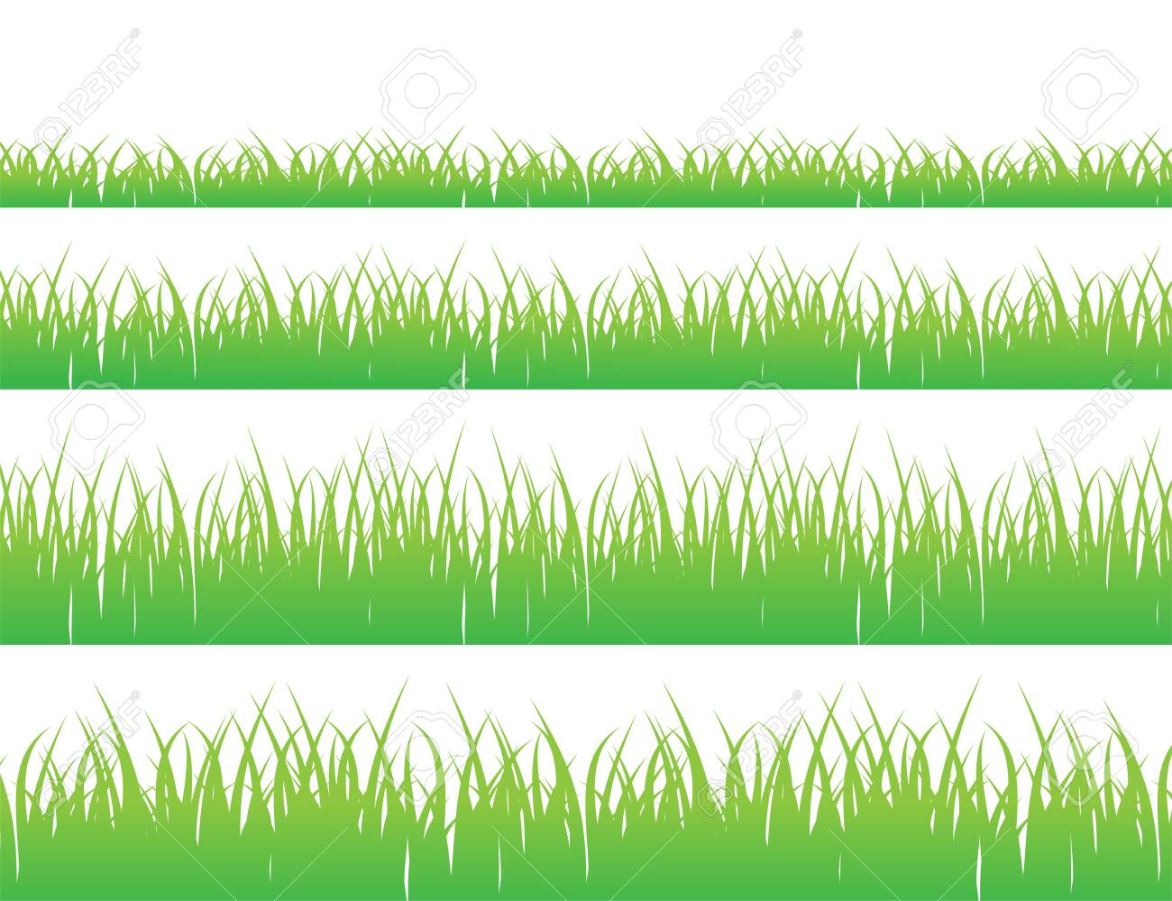 Green grass meadow border vector pattern. Grass background Vector Illustration. - 151473829