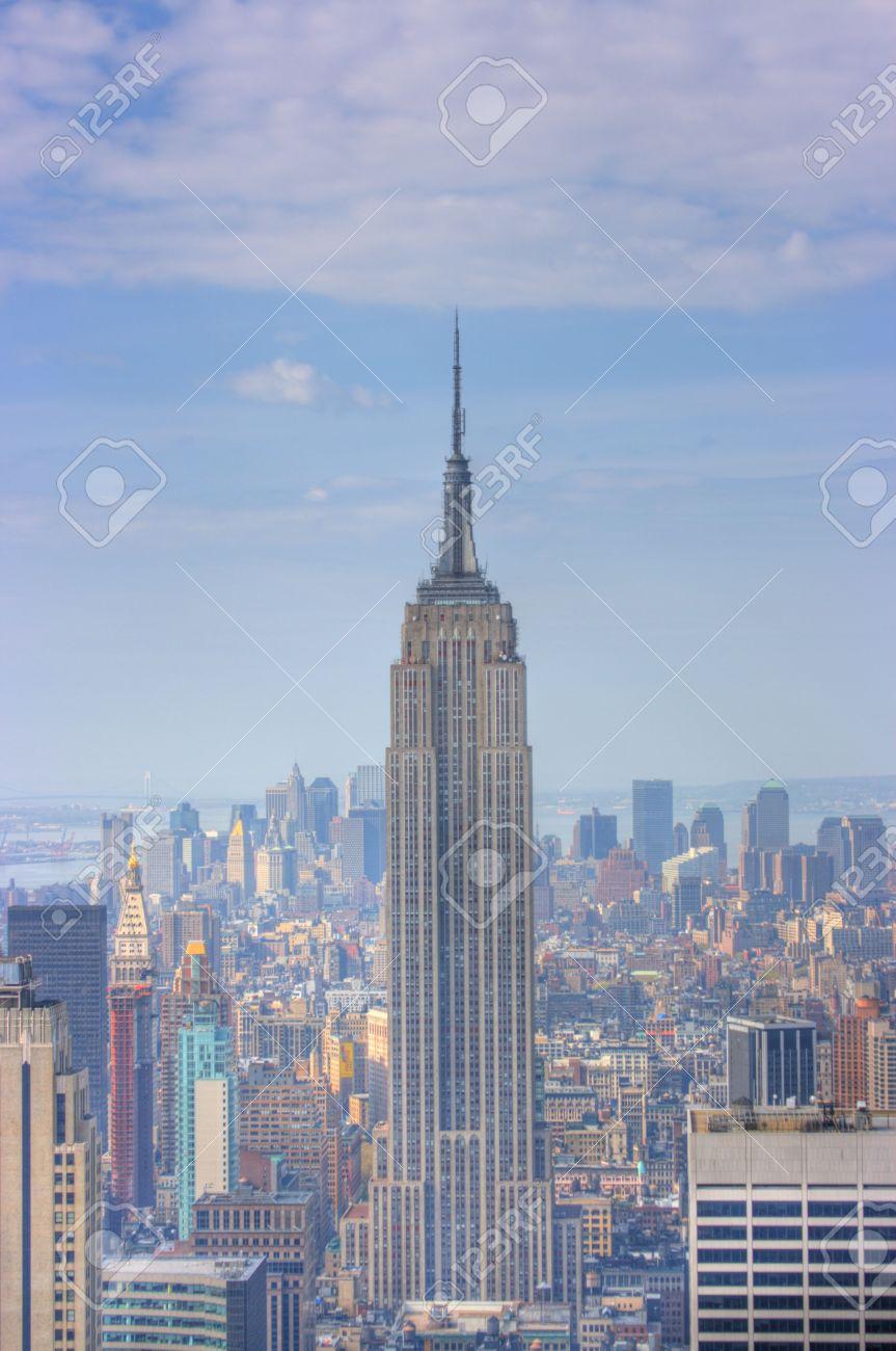 Manhattan Skyline From Atop 30 Rockefeller Center New York City