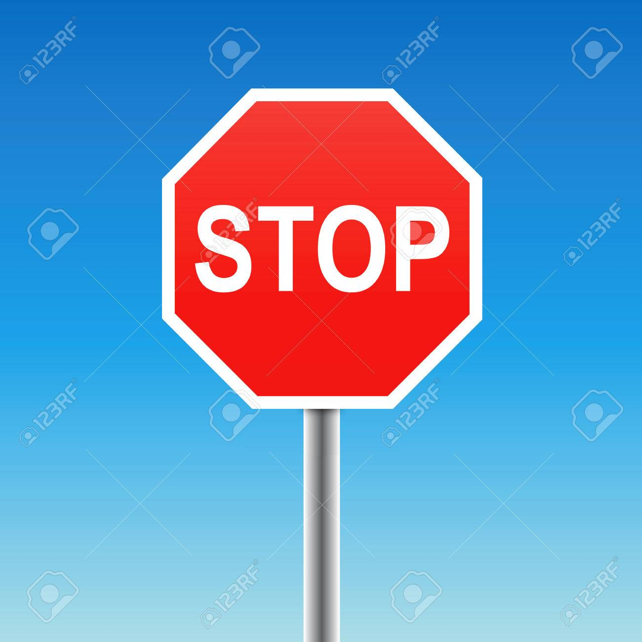 stop sign (vector) Stock Vector - 6298543