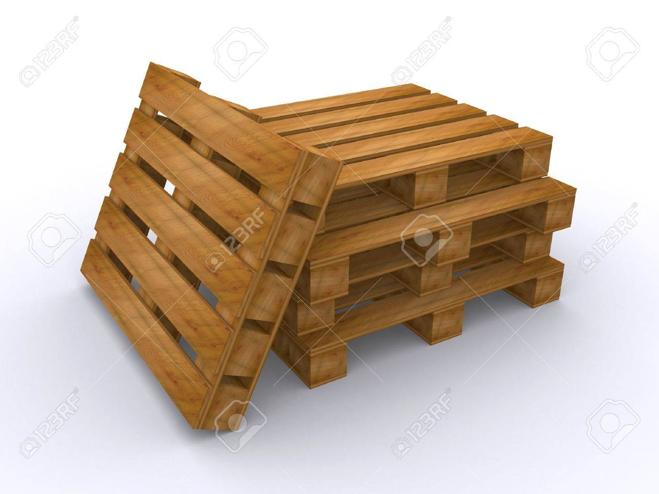 wooden pallets (3d render) Stock Photo - 6770621