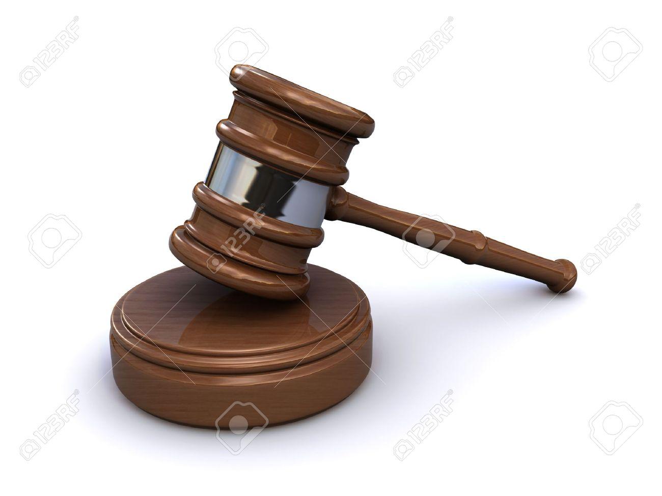 judge gavel (3d render) Stock Photo - 6840432