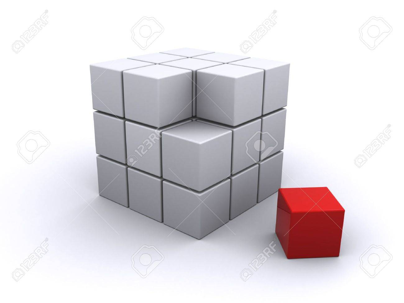 abstract cube Stock Photo - 6994915