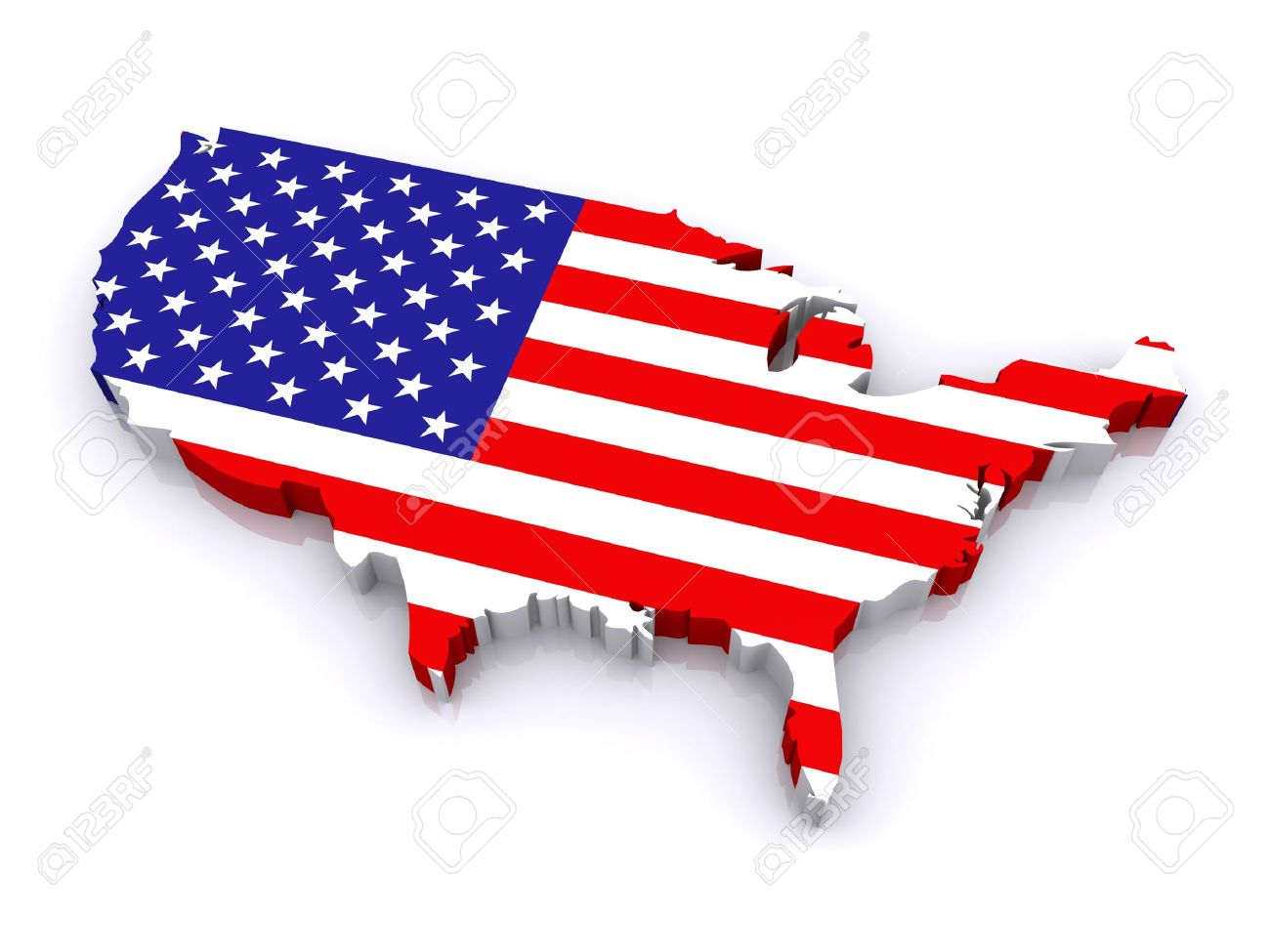 D Map Of United States Stock Photo Picture And Royalty Free - 3d map usa states