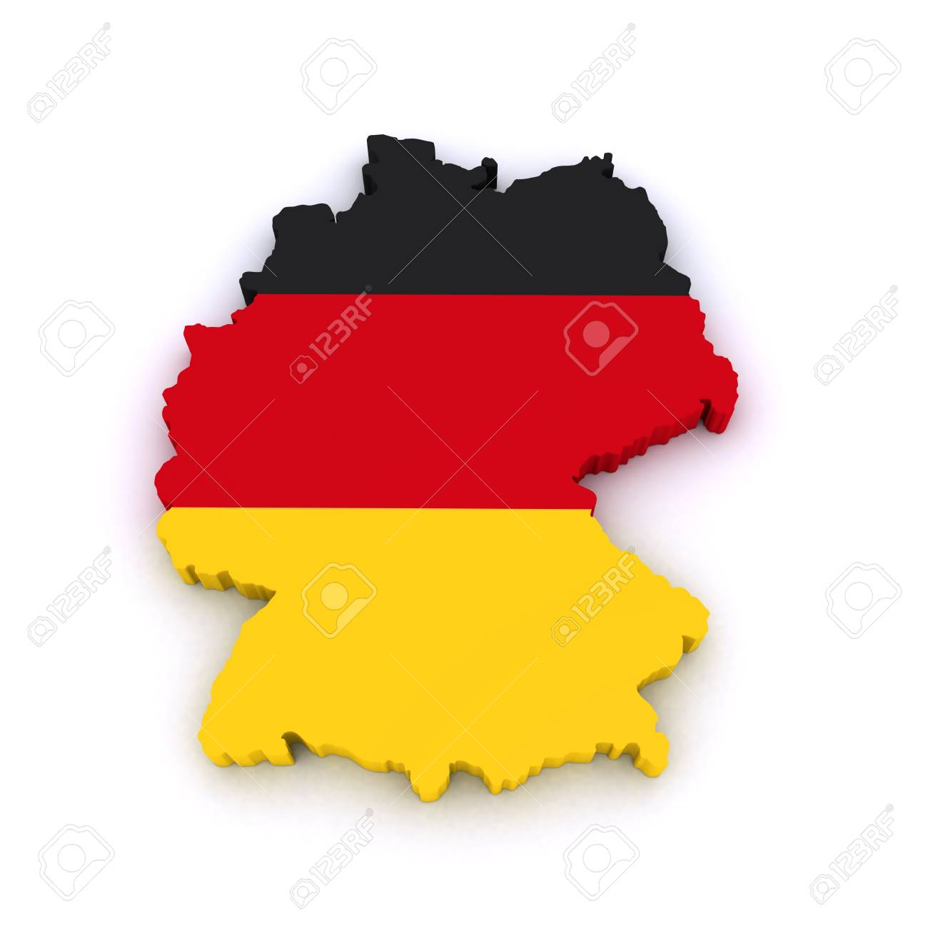 3d map of Germany Stock Photo - 10819791