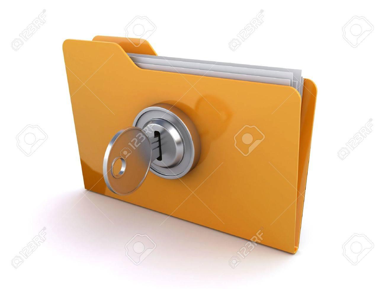 locked folder Stock Photo - 13877885