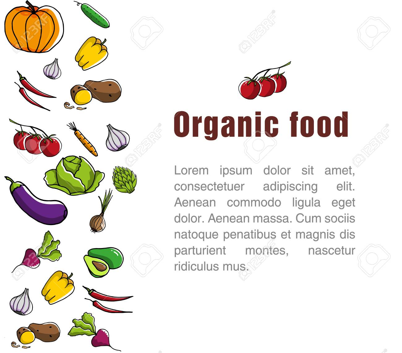 advertising poster for the grocery store template for organic