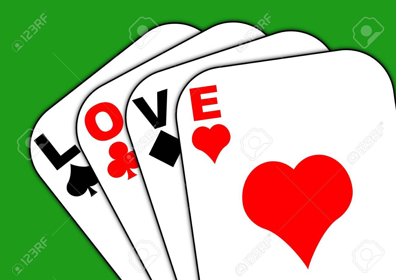 Playing cards with the words love across them Stock Photo - 6411514