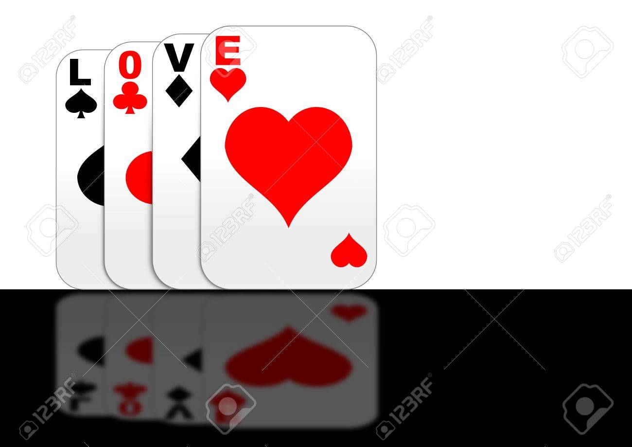 Playing cards with Love Stock Photo - 6431764