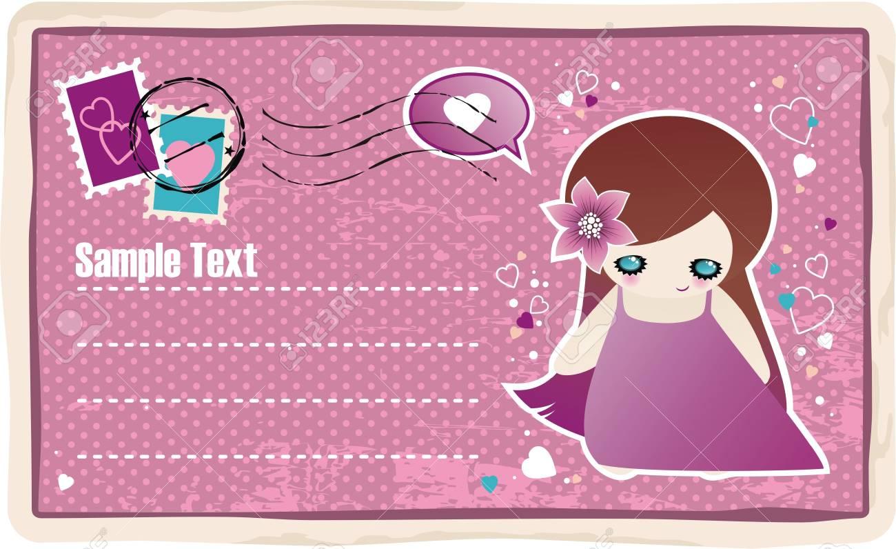 Valentines postcard Stock Vector - 4187730