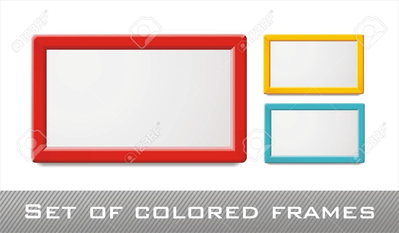 Marcos Colores Decorativas Para Diseño De Web, Que Puede Colocar Una ...