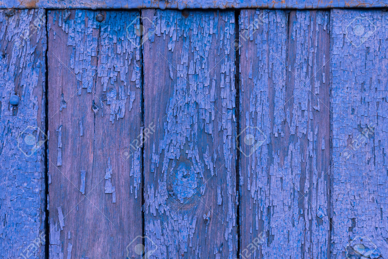 Boards of delicate blue and pink shades. The texture of a wooden fence. Background, texture - 168593929