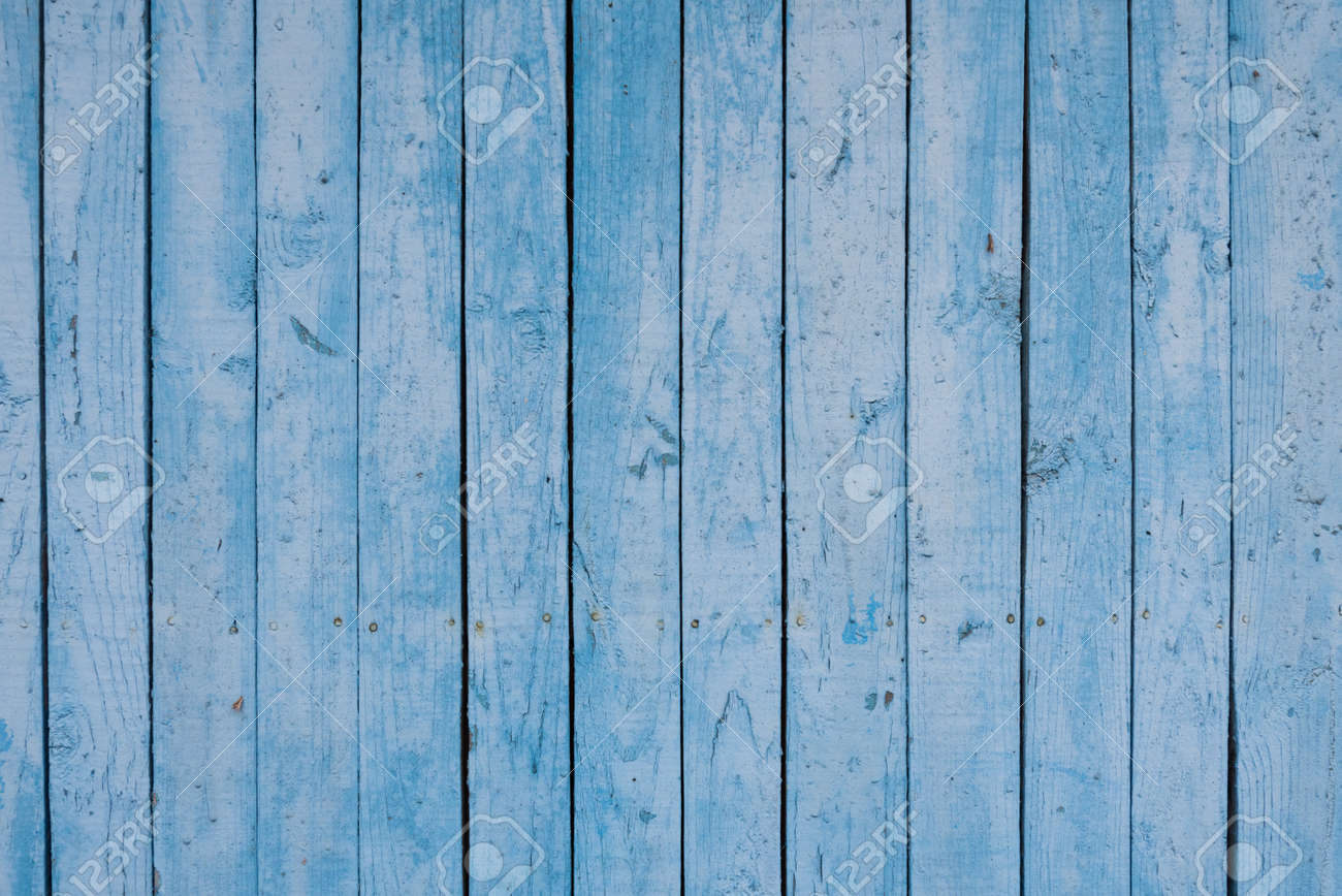 Boards of delicate blue shades. The texture of a wooden fence. Background, texture - 168593963