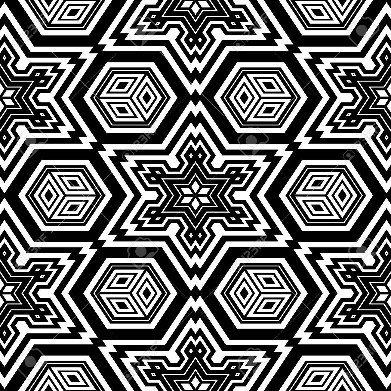 Geometric Design Coloring Page Seamless Pattern Background Texture ...