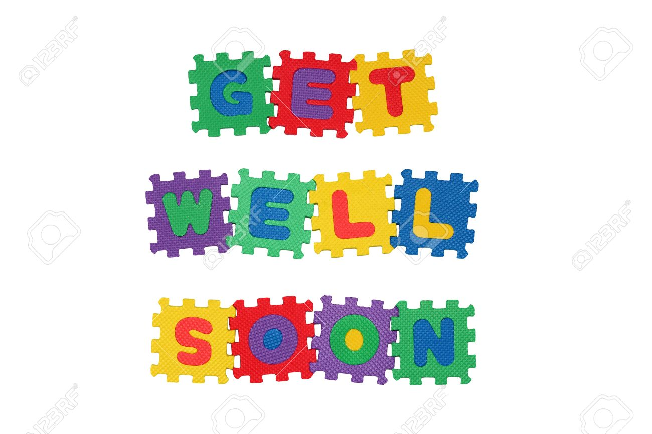 message get well soon from letter puzzle isolated on white stock photo 6359820