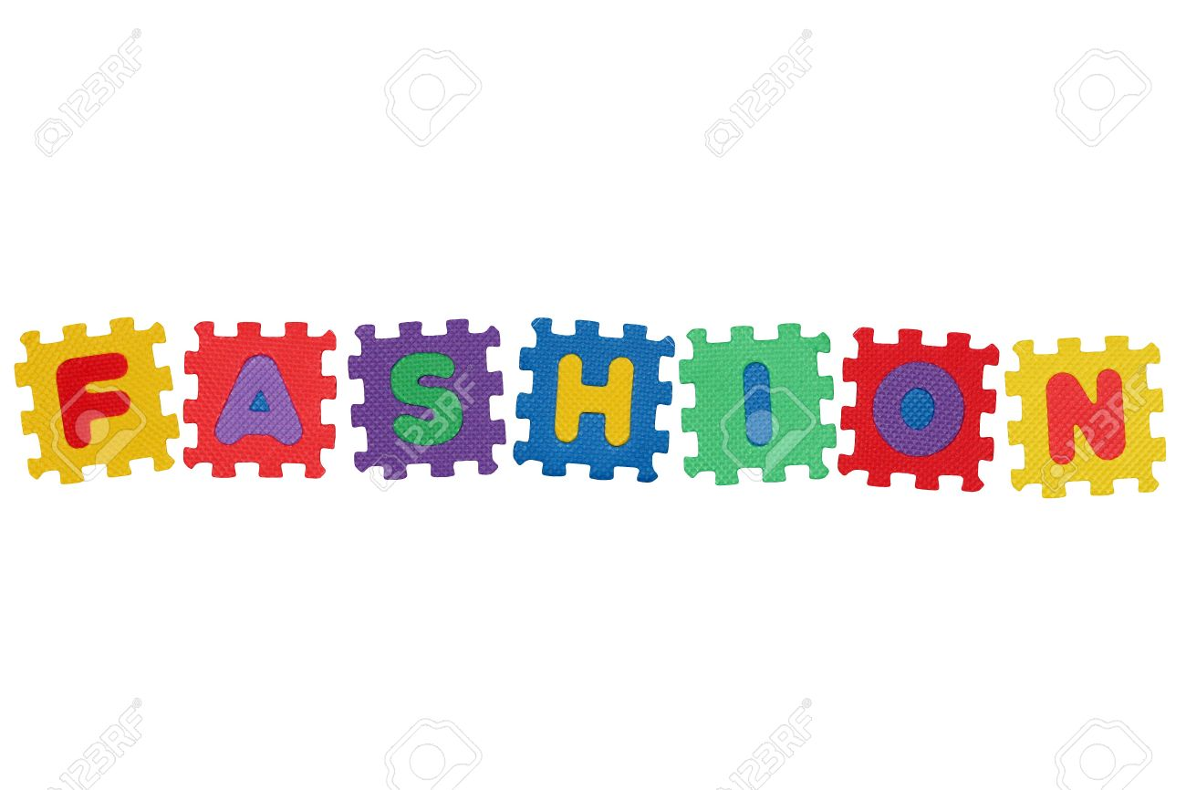 word fashion from letter puzzle isolated on white background stock photo 6439325