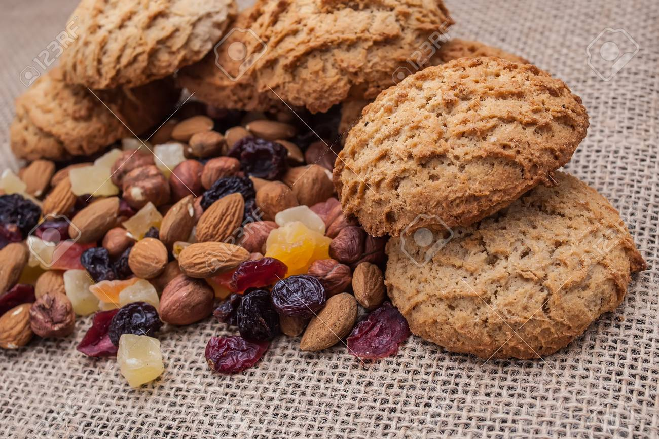 Biscuits With Nuts And Dried Fruits Stock Photo Picture And Royalty Free Image Image 70886612