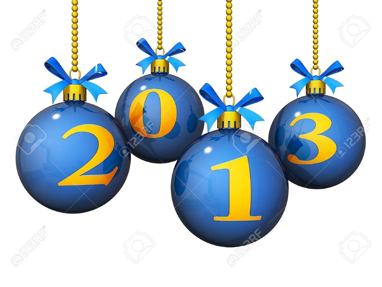 Christmas Ornaments with the new year's 2013 Stock Photo - 15420489