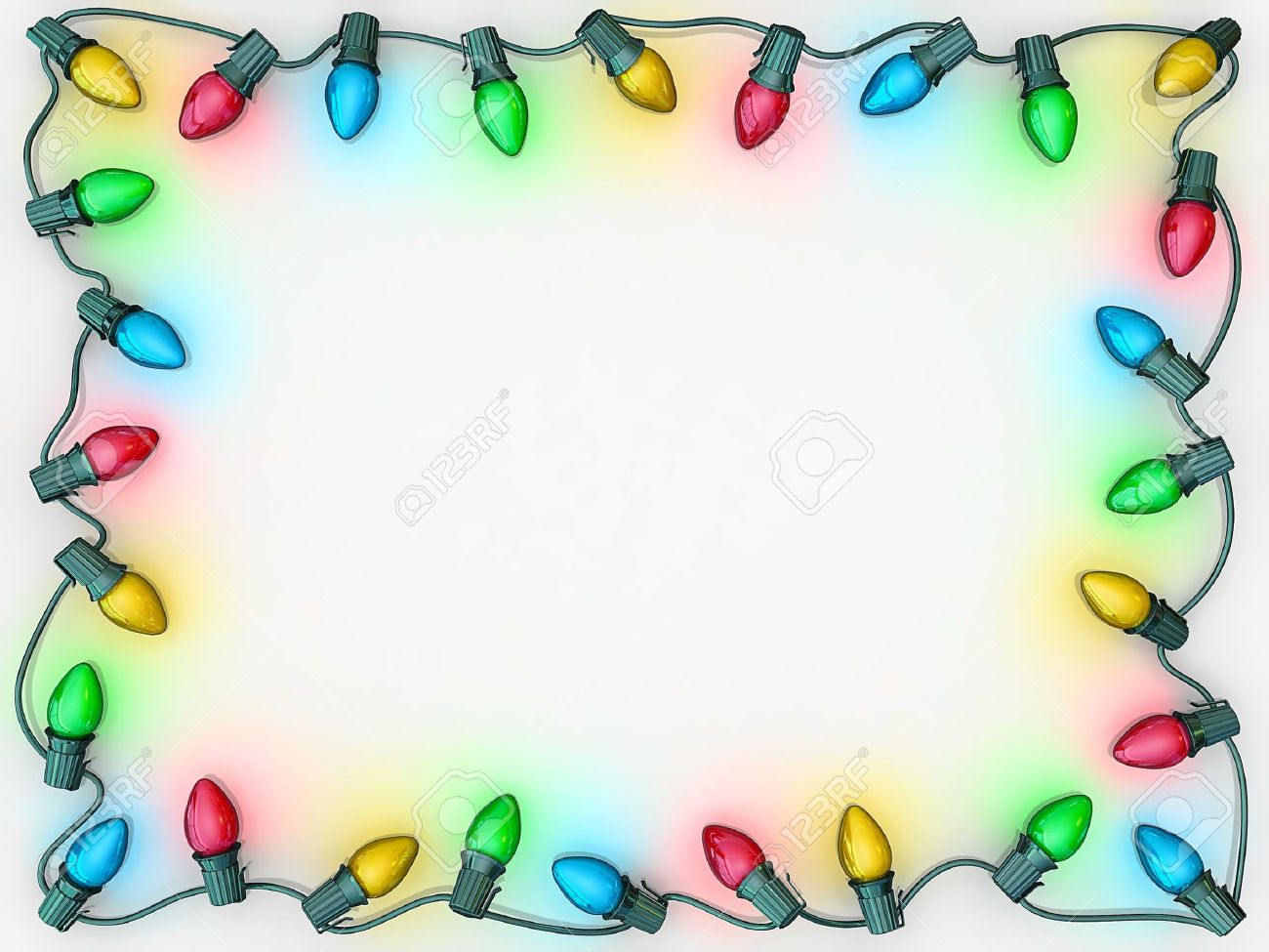 Christmas lights as a boarder to frame copy space Stock Photo - 15759780