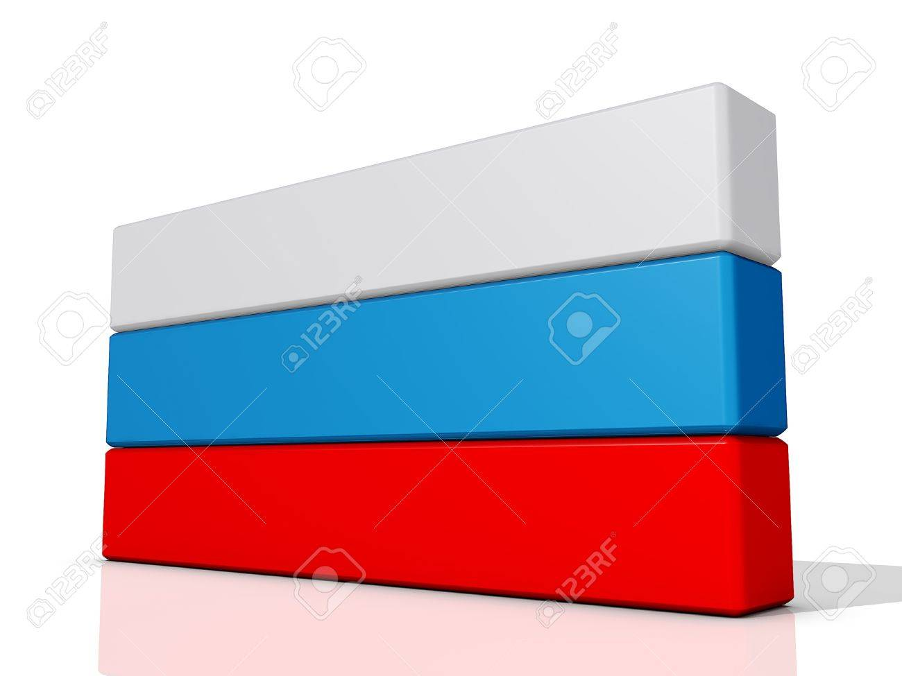 Russia Flag on a shiny white background Stock Photo - 17081090