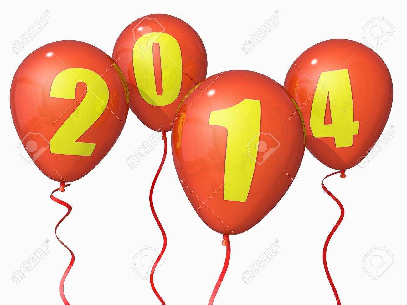 Balloons with 2014 on them. Stock Photo - 17299277