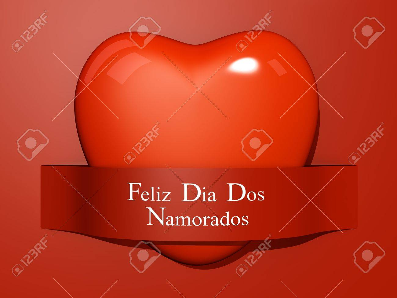 A Heart with a paper cut out with the text Happy Valentine's Day In Portuguese. Stock Photo - 17572042