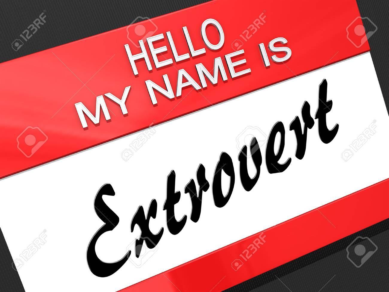 Hello My Name is Stock Photo - 17960437