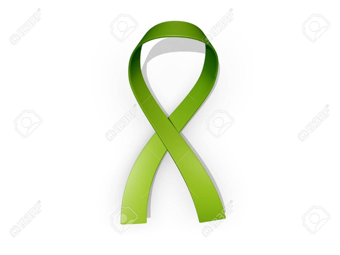 A looped green awareness ribbon Stock Photo - 19327594