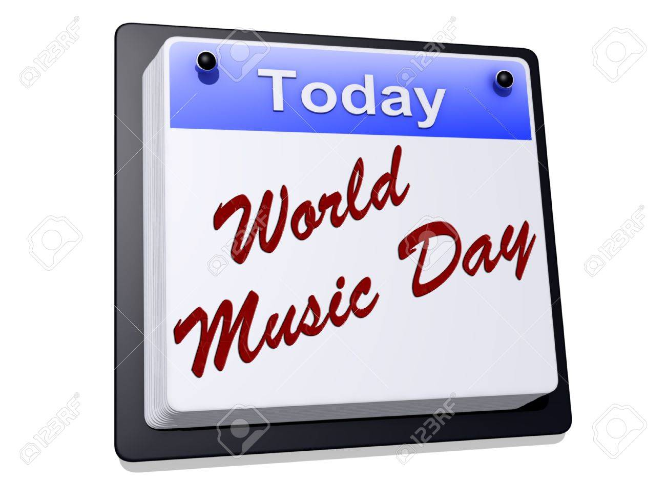 World Music Day on a sign Stock Photo - 19454926