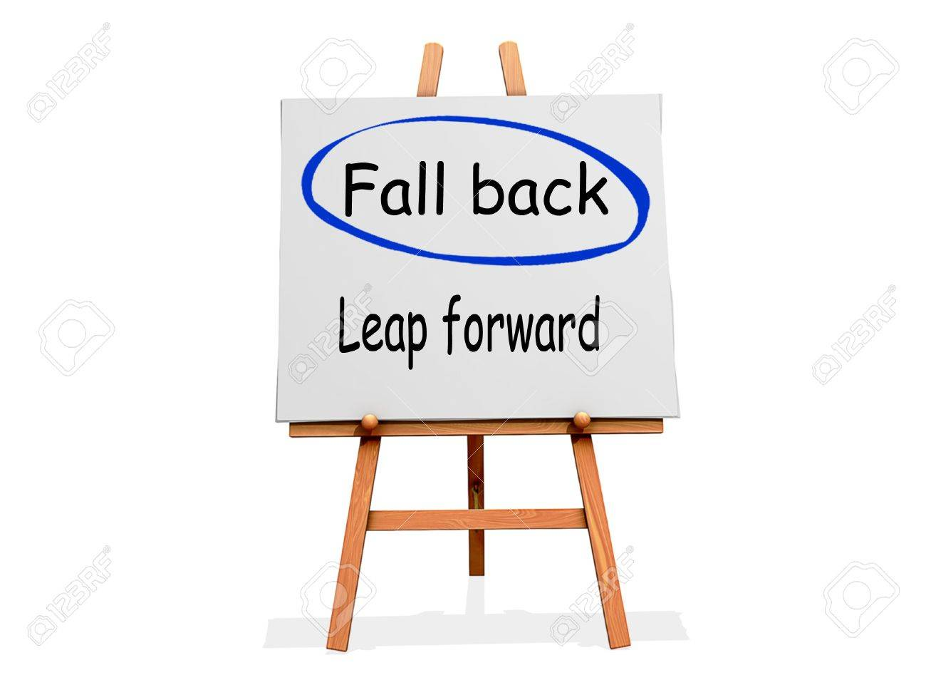 Fall Back Not Leap Forward on a sign. Stock Photo - 19604244