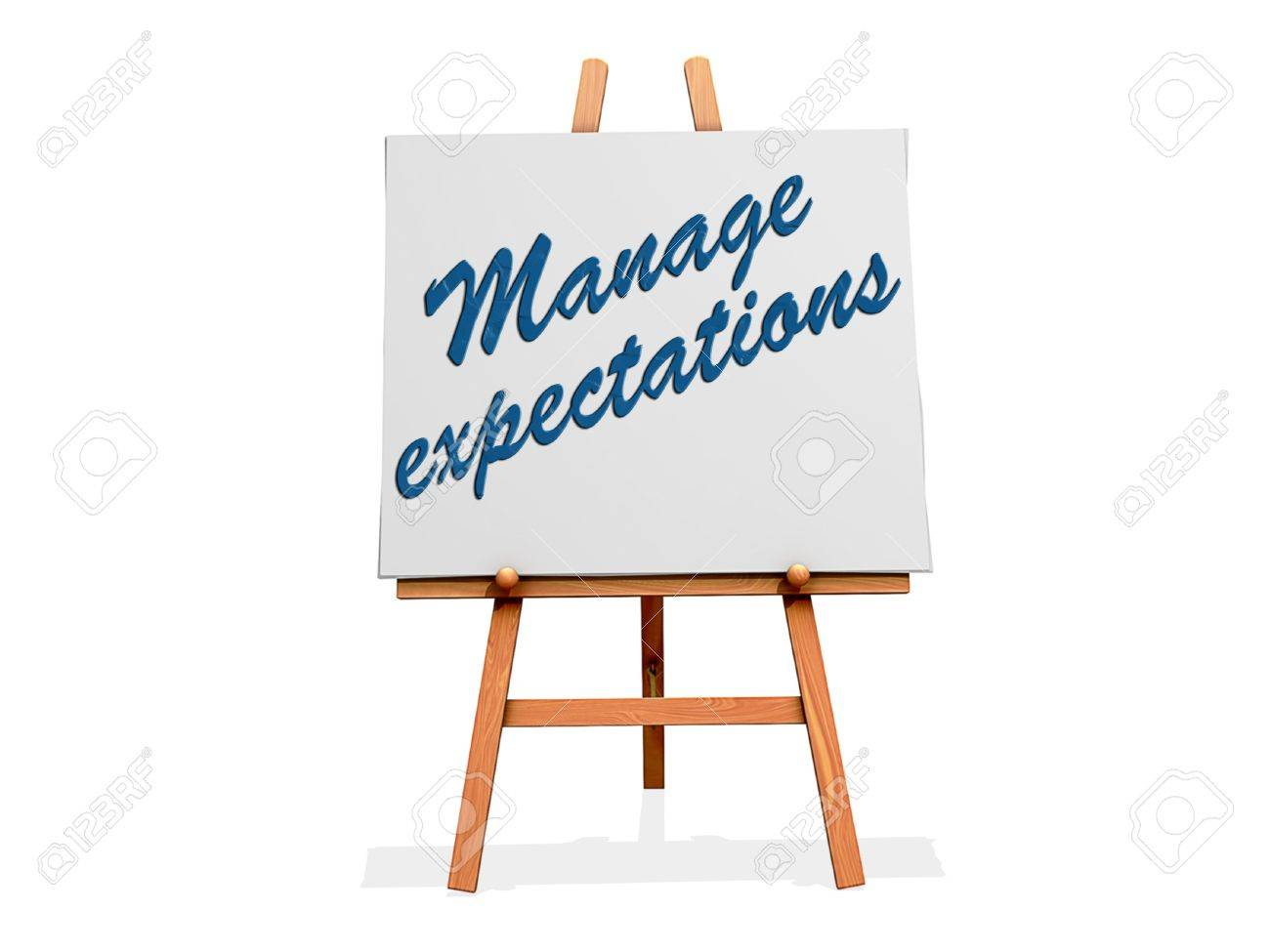 Manage Expectations on a sign. Stock Photo - 20705924