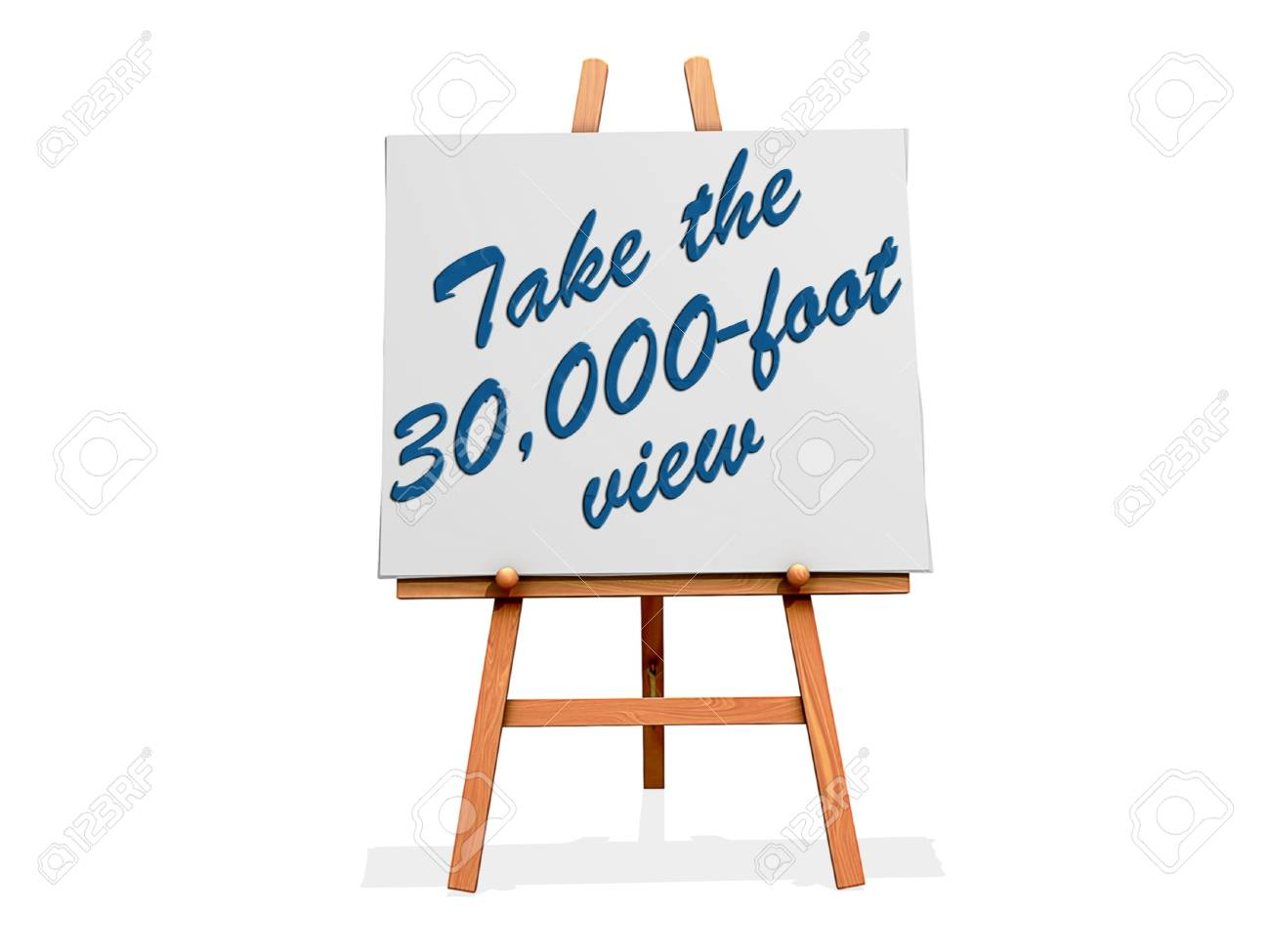 Take the 30,000-foot View on a sign. Stock Photo - 20705930
