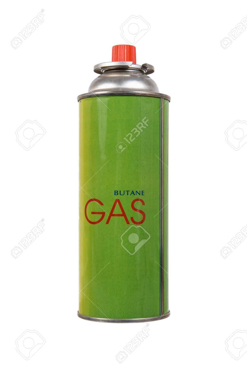 Le Gaz Butane dedans le gaz butane liquide peut isolé sur blanc banque d'images et photos