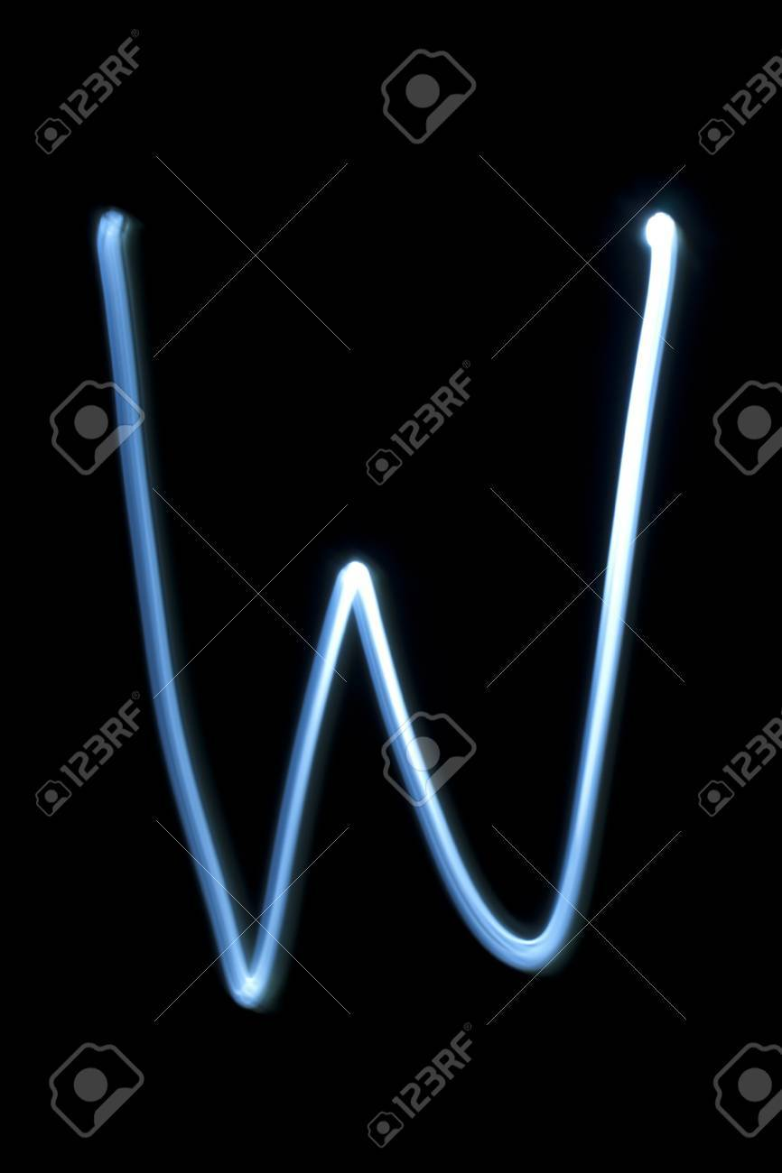 The letter W from natural neon light. Stock Photo - 16513942