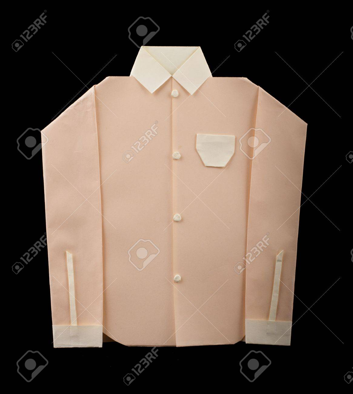 Isolated paper made pink shirt. Folded origami style Stock Photo - 16513831