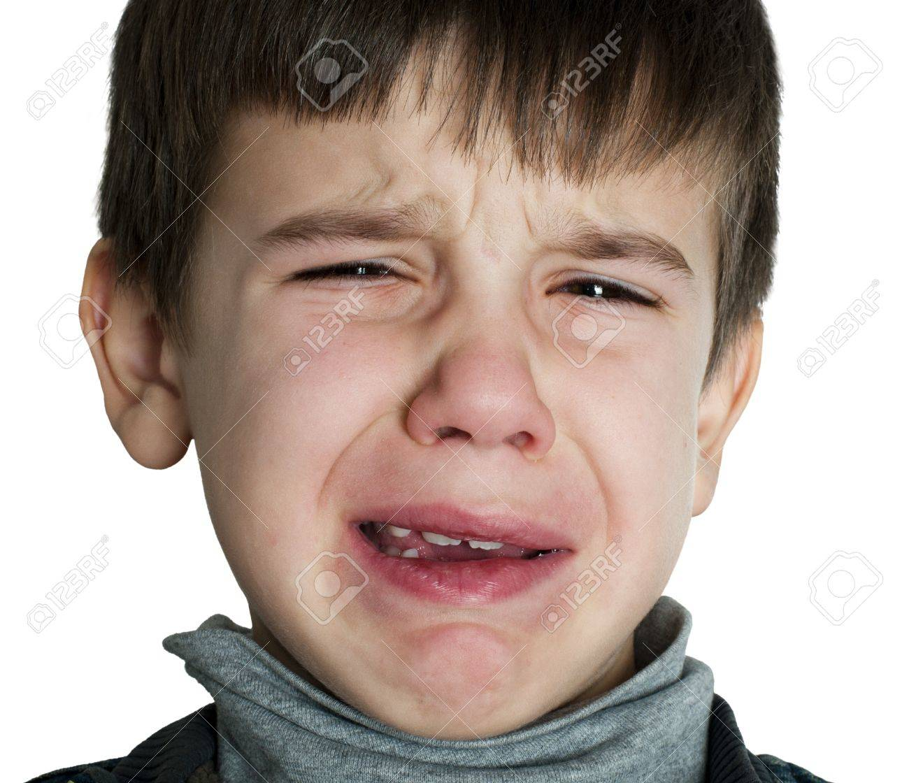 Face of crying little boy Stock Photo - 16791382