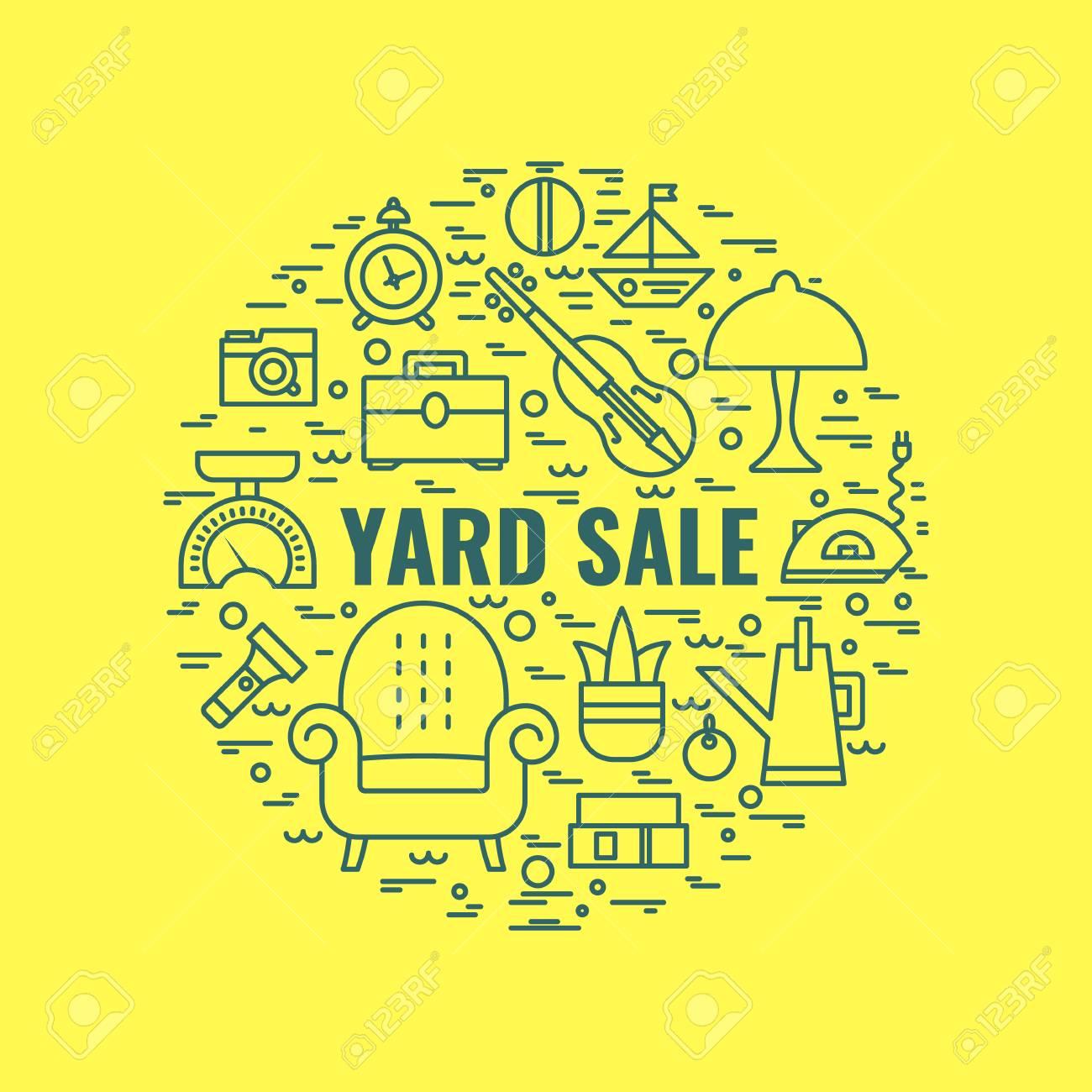 Yard-Verkauf-Zeichen. Vorlage Für Poster, Banner. Garage Verkauf ...