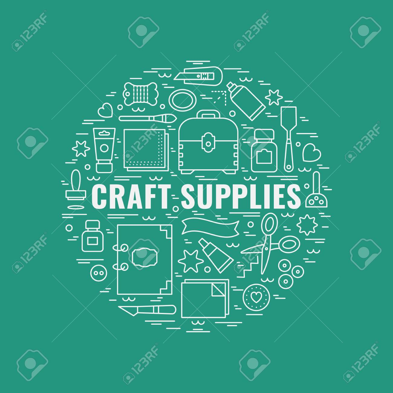 Craft Supplies Poster Template For Flyer And Banner Poster
