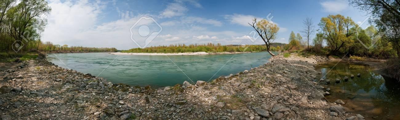 Panorama of River Drava Stock Photo - 6902450