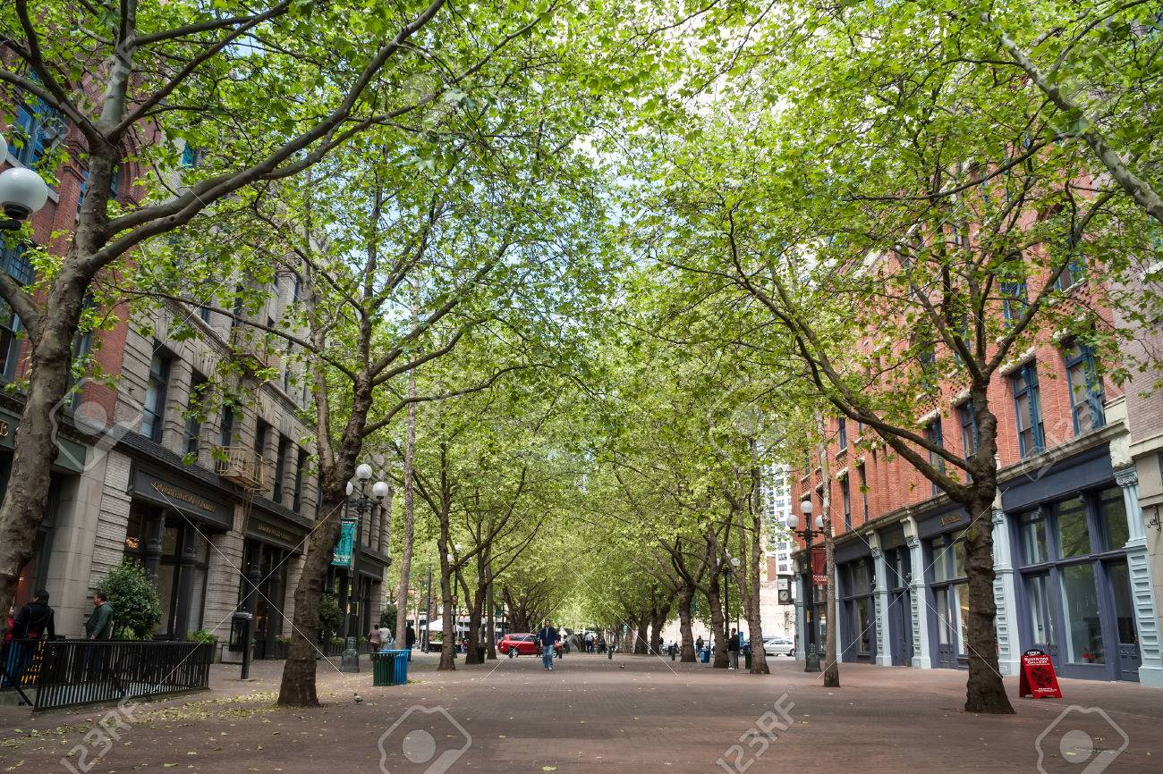 Occidental Avenue On May 19 In Seattle Washington Occidental Stock Photo Picture And Royalty Free Image Image 24302579