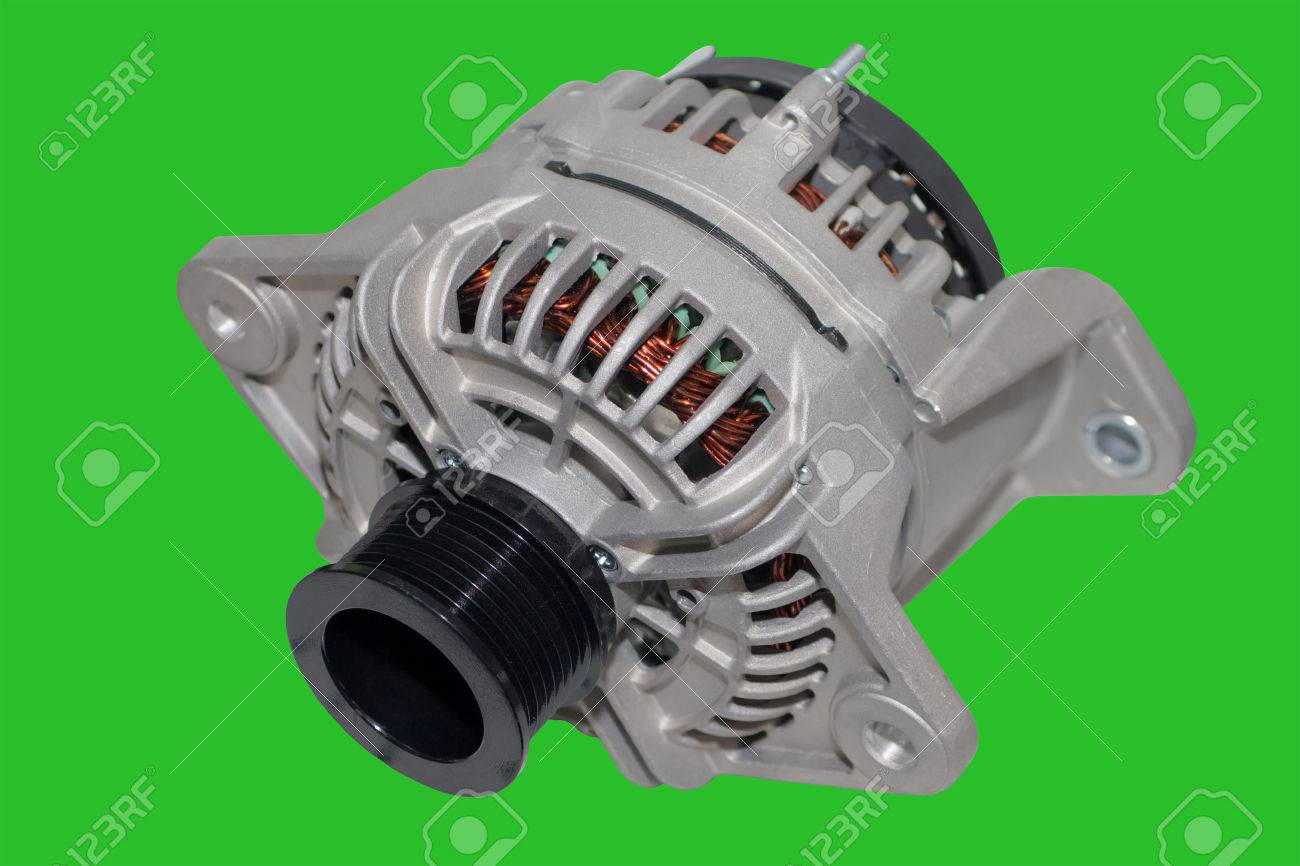 Alternator Image Of Car Alternator Isolated On Green Background Stock Photo Picture And Royalty Free Image Image 58412180