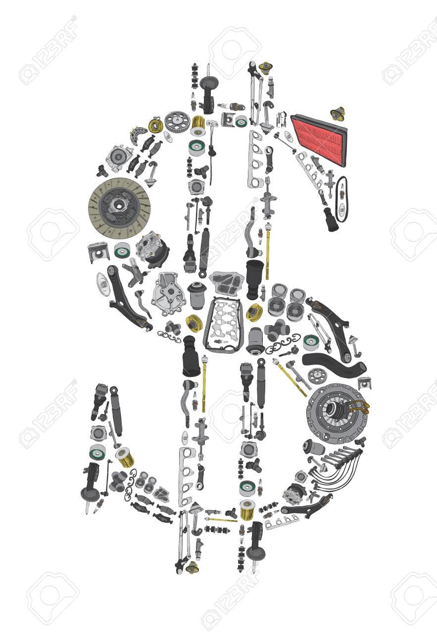 Tolle Explosionszeichnung Von Autoteilen Zeitgenössisch ...