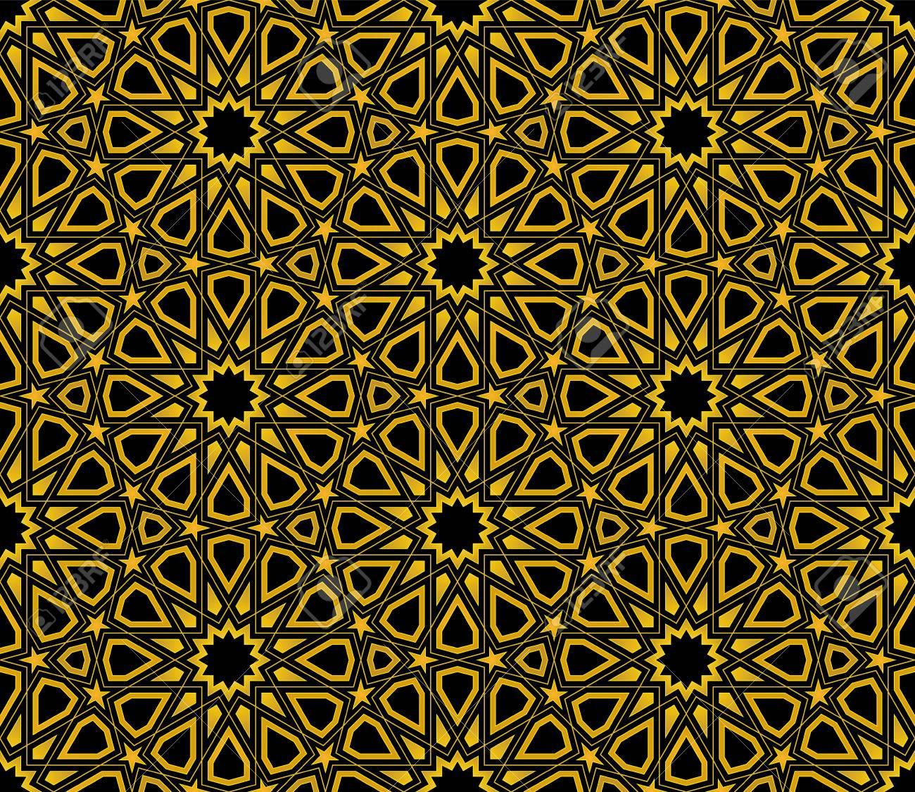 イスラム星柄シームレスな背景 壁紙デザインのイラスト素材 ベクタ