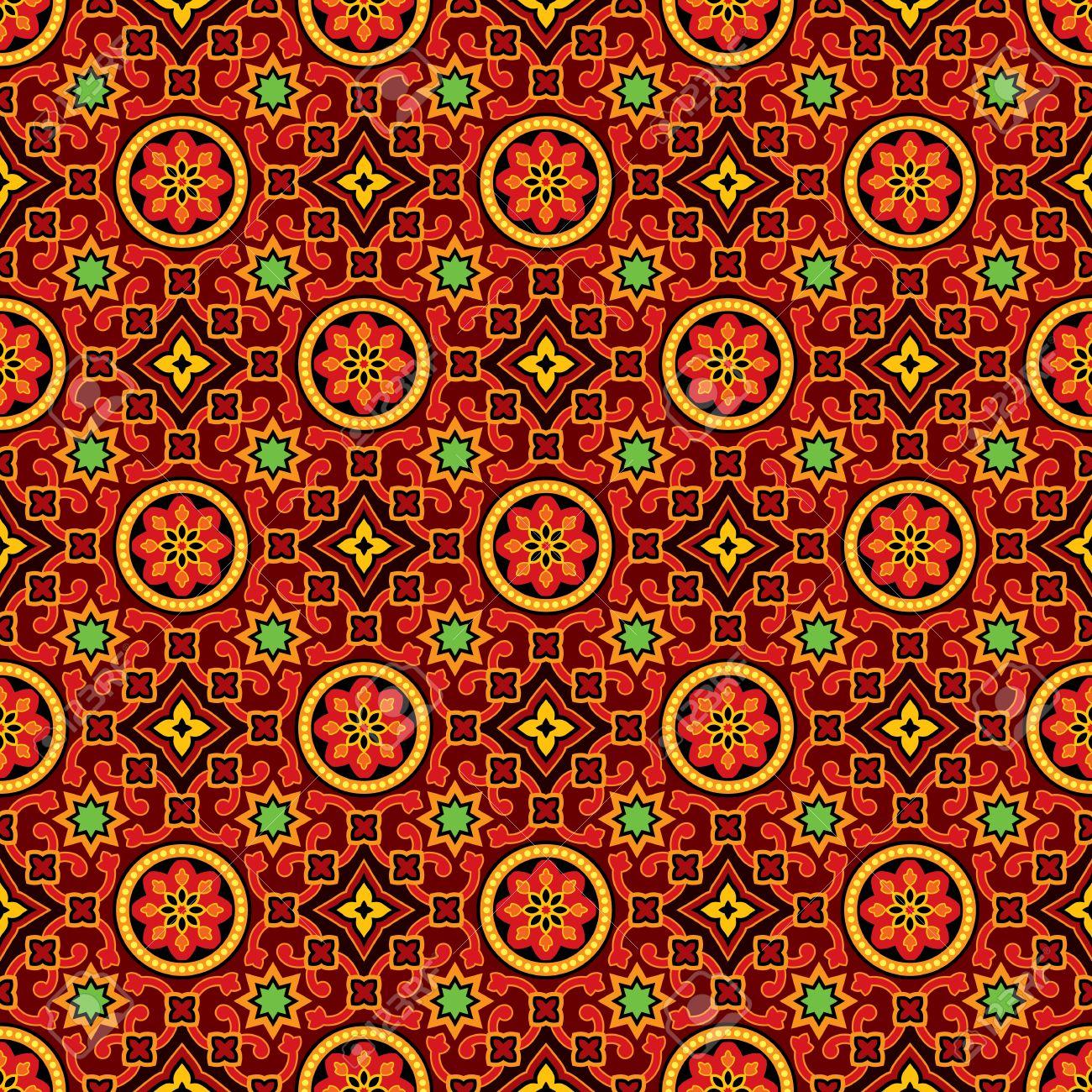Sindhi ajrak vector pattern background