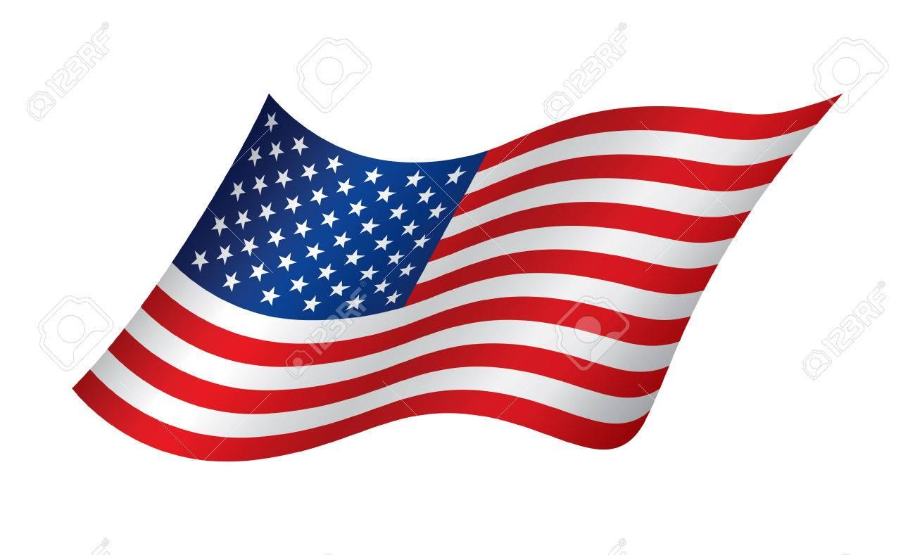 american waving flag vector illustration royalty free cliparts rh 123rf com waving flag vector tutorial waving flag vector graphic